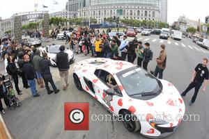 Tommy Lee - Drivers leave San Francisco Civic Center - San Francisco, California, United States - Sunday 24th May 2015