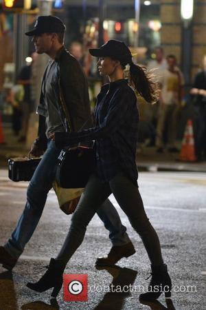 Megan Fox, Will Arnett and Stephan Amell - Megan Fox on the set of TMNT2 - Manhattan, New York, United...