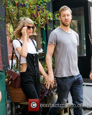 Taylor Swift Shares Adorable Pool Picture With Calvin Harris