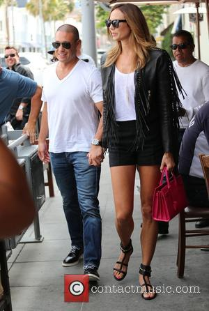 Stacy Keibler and Jared Pobre - Stacy Keibler and her husband Jared Pobre enjoy a romantic lunch at Il Pastaio...