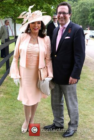Dame Joan Collins and Percy Gibson - The Cartier Queen's Cup 2015 Polo Finals at Windsor Great Park - London,...