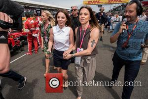 Mel C, Geri Halliwell and Emma Bunton - Formula 1 British Grand Prix at Silverstone - Race Day - Silverstone,...