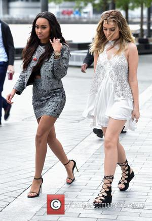 Perrie Edwards and Leigh-Anne Pinnock - Little Mix at the BBC Breakfast studios at Media City - Manchester, United Kingdom...