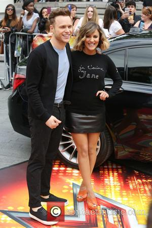 Olly Murrs and Caroline Flack