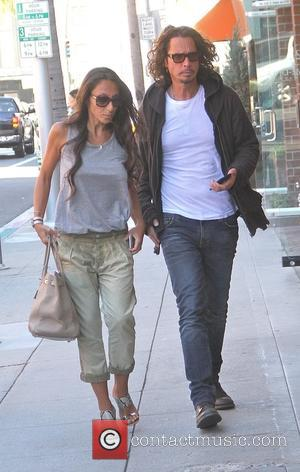 Chris Cornell and Vicky Karayiannis - Musician Chris Cornell with his wife Vicky Karayiannis go shopping in Beverly Hills -...