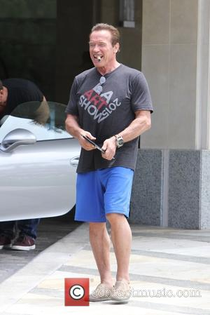 Arnold Schwarzenegger Celebrates Birthday With Sylvester Stallone