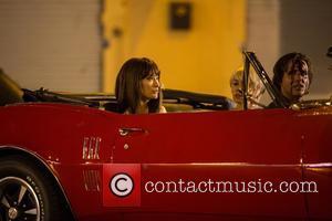 Olivia Wilde, Birgitte Hjort Sorensen , Bobby Cannavale - Olivia Wilde on the set of her new TV show 'Vinyl'...