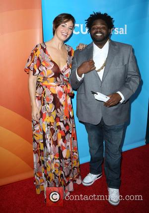 Bianca Kajlich and Ron Funches