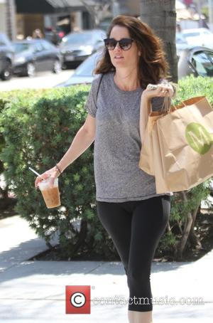 Robin Tunney - The Mentalist, star, Robin Tunney grabs lunch in Beverly Hills - Los Angeles, California, United States -...