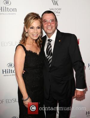 Beny Alagem , Adele Alagem - The Beverly Hilton 60th 'Diamond' Anniversary Celebration at the Aqua Star Pool - Arrivals...