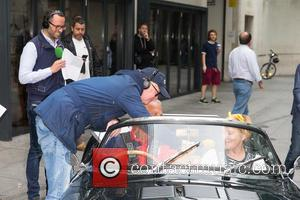 Chris Evans - Chris Evans sees off the 12 classic cars 'The Dirty Dozen' for Children In Need. Six couples...