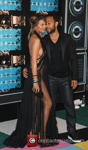 Chrissy Teigen , John Legend - 2015 MTV Video Music Awards (VMA's) at the Microsoft Theater - Arrivals at Microsoft...