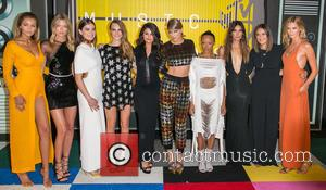 Model Gigi Hadid, model Martha Hunt, actress Hailee Steinfeld, actress Cara Delevingne, actress/singer Selena Gomez, recording artist Taylor Swift, actress...