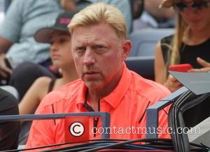 Boris Becker - US Open Tennis 2015 - First Day Games at Billy Jean King National Tennis Center - New...