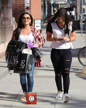 Kyle Richards , Sophia Umansky - Kyle Richards out and about with her daughter Sophia in Beverly Hills at beverly...