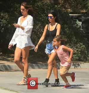 Kourtney Kardashian , Mason Dash Disick - Celebrities attend Malibu Kiwanis Chili Cook-off in Malibu - Malibu, California, United States...