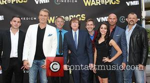 Dolph Lundgren, Rick Brulte, Luke Goss , Chuck Liddell - Premiere of Cinedigm's 'War Pigs' at ArcLight Cinemas - Arrivals...