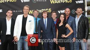 Dolph Lundgren, Rick Brulte, Luke Goss , Chuck Liddell - Premiere of Cinedigm's 'War Pigs' at ArcLight Cinemas - Arrivals...