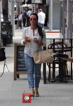 Kyle Richards - Kyle Richards has lunch with a friend at Comoncy cafe in Beverly Hills at beverly hills -...