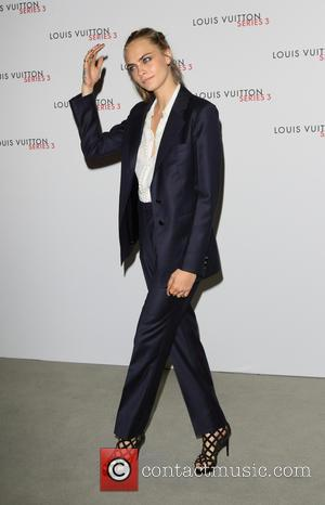 Cara Delevingne - London Fashion Week - Louis Vuitton series 3 Exhibition Launch Party - Arrivals at 180 The Strand,...
