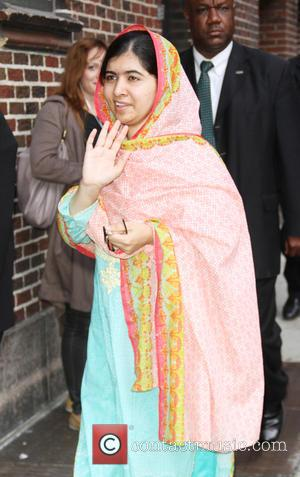 Stephen Colbert and Malala Yousafzai