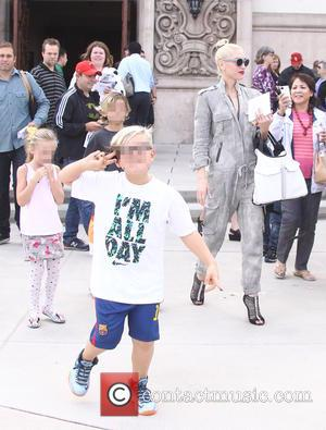 Gwen Stefani , Zuma Rossdale - Gwen Stefani leaves Church with her sons - Los Angeles, California, United States -...