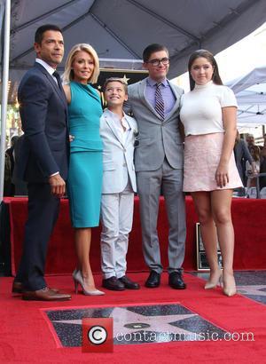 Mark Consuelos, Kelly Ripa, Michael Joseph Consuelos, Lola Grace Consuelos and Joaquin Antonio Consuelos