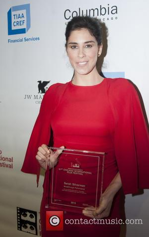 Sarah Silverman - Sarah Silverman accepts the Breakthrough Performance Award for the film 'I Smile Back' at the 51st Chicago...