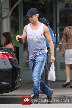 Derek Hough - Derek Hough, Mark Ballas, and Allison Holker leave Joan's on Third after having lunch together at West...