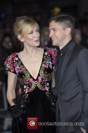 Cate Blanchett and Topher Grace