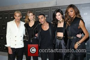 Kendall Jenner, Gigi Hadid , Jourdan Dunn - The BALMAIN X H&M Collection Launch at 23 Wall Street - New...