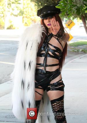 Phoebe Price - Phoebe Price out in Los Angeles wearing her 'Fifty Shades of Duct Tape' outfit - Los Angeles,...