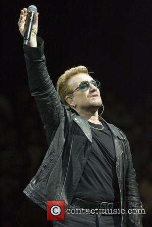 U2 , Bono - U2 headlines at the SSE Hydro within the Scottish Exhibition and Conference Centre (SECC) in Glasgow...