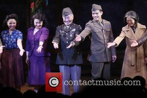 Janelle Toyomi Dote, Lea Salonga, George Takei and Telly Leung