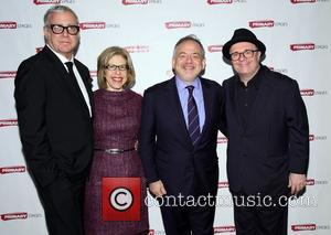 Scott Wittman, Jackie Hoffman, Marc Shaiman and Nathan Lane