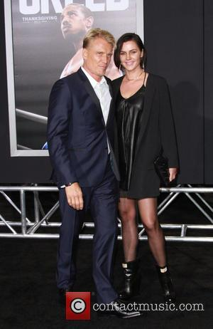 Dolph Lundgren , Jenny Sandersson - Creed Los Angeles Premiere held at the Regency Village Theatre at Regency Village Theatre...