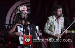 Natalia Tena and Sam Apley