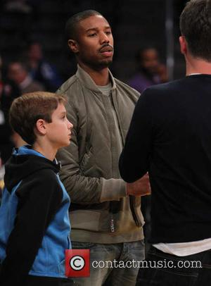 Michael B. Jordan - Celebrities watch the Los Angeles Lakers against the Indiana Pacers. The Indiana Pacers defeated the Los...