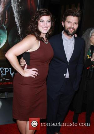 Allison Tolman and Adam Scott