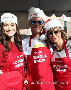 Emmy Rossum, Harry Hamlin and Lisa Rinna