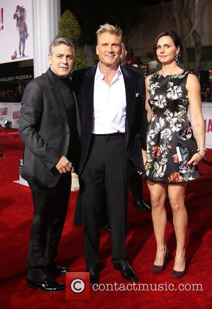 George Clooney, Dolph Lundgren , Jenny Sandersson - Premiere Of Universal Pictures'