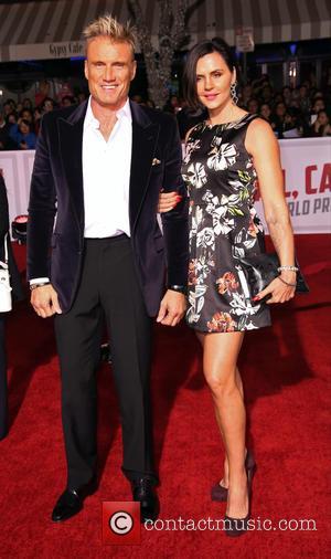 Dolph Lundgren and Jenny Sandersson