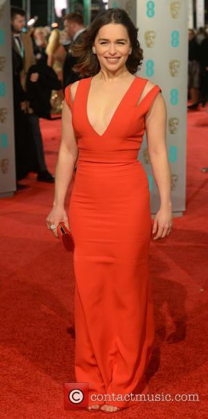 Emilia Clarke - EE British Academy Film Awards (BAFTA) 2016 at the Royal Opera House - Arrivals at British Academy...