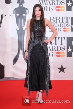 Dua Lipa - The Brit Awards 2016 (Brits) held at the O2 - Arrivals at The Brit Awards - London,...