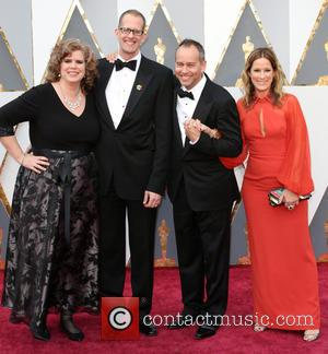 Amanda Docter, Pete Docter, Jonas Rivera and Michele Rivera