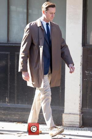 Armie Hammer - Armie Hammer filming scenes for 'Final Portait' in South London, where the streets were transformed into 1920's...