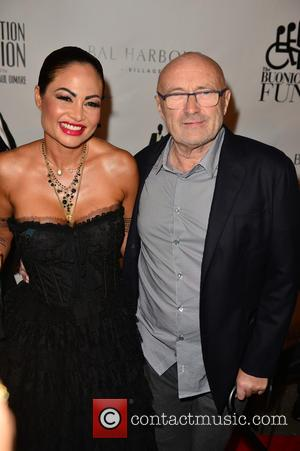 Orianne Cevey and Phil Collins