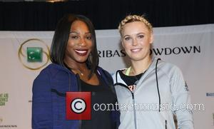 Serena Williams and Caroloine Wozniacki