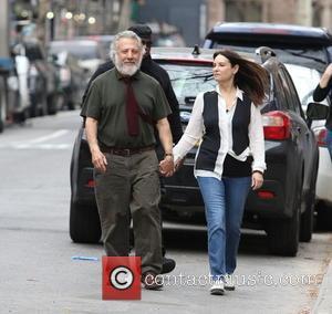 Dustin Hoffman , Lisa Hoffman - Dustin Hoffman and Emma Thompson on the film set of the new movie 'Yen...