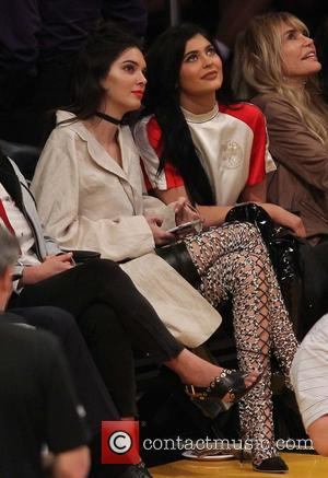 Kylie Jenner , Kendall Jenner - Celebrities at the Los Angeles Lakers game. The Sacramento Kings defeated the Los Angeles...